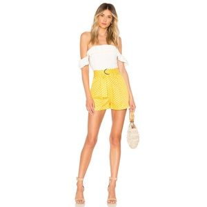 Tularosa Olena Polka Dot Print Pineapple Shorts XL